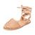 Beek Parakeet Wrap Sandals - Natural/Natural