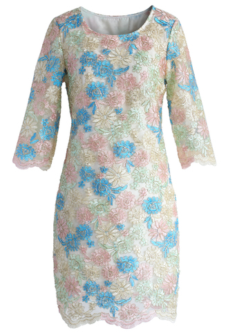 dress parade flowers embroidered shift dress floral dress shift dress chicwish