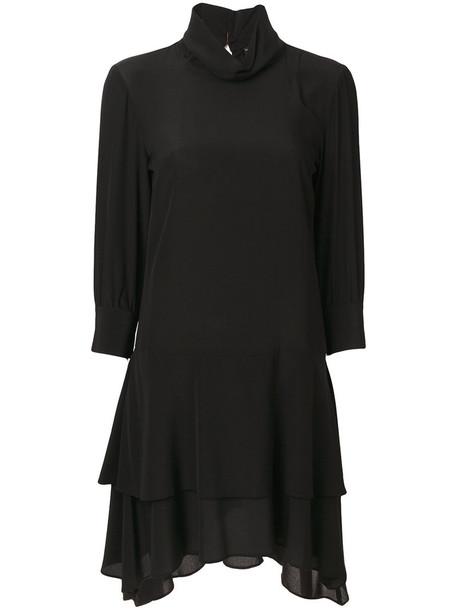 Twin-Set dress women black silk