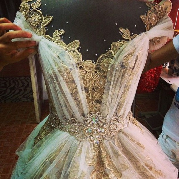 dress prom dress long dress short dress vintage dress prom gold lace long prom dress whimsical dress wedding dress princess dress ball gown dress