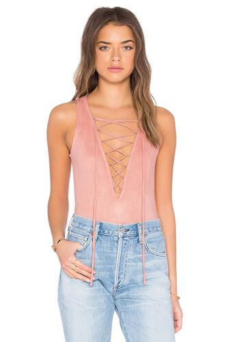 bodysuit lace blush