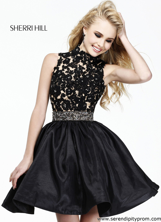 And have Sherri hill short black lace dress opinion