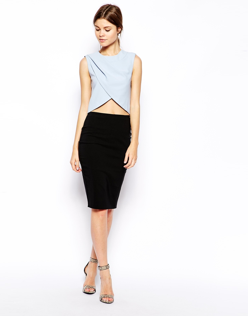 ASOS Pleat and Wrap Shell Top at asos.com