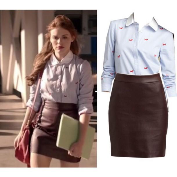 top lydia martin skirt blouse teen wolf