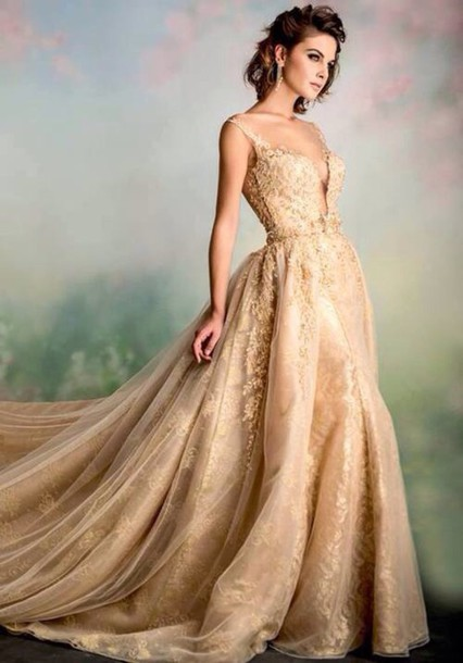 dress gold sequins gown elegant dress