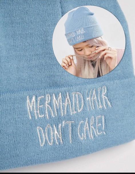 hat beanie any colour mermaid hair cute