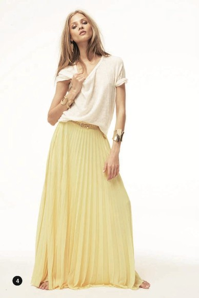 mango skirt maxi yellow