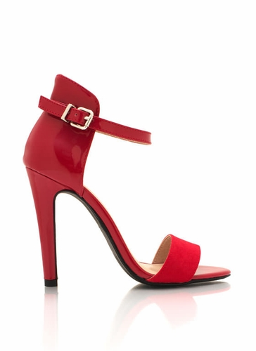 Ankle Strap Red Heels