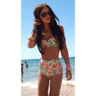 swimwear floral swimwear bikini
