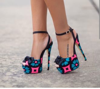 shoes flower shoes heels with bows black heels stilettos heels high heels crystal pumps hight heels red sole shiny sparkle glitter heels.nightclub heels