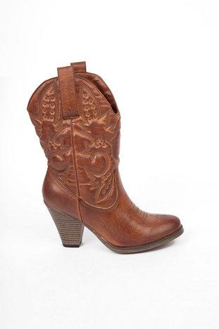 Mia girl larue western boots in luggage ~ tobi
