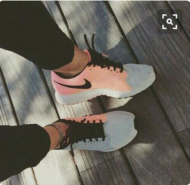 shoes nike sneakers nike shoes pink grey sneakers
