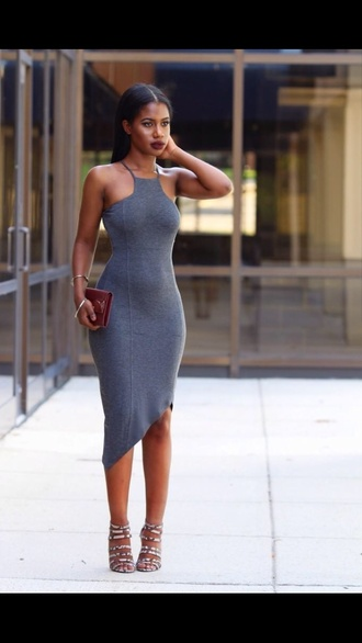tight midi dress grey 2014 prom dresses tight waist bodycon black girls killin it snakeskin heels heels clutch dress