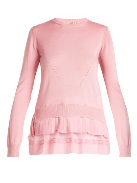 No. 21 sweater wool pink