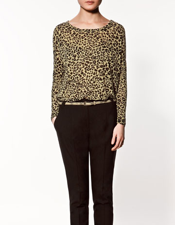 4341af9227ab LEOPARD PRINT T-SHIRT - Collection - T-shirts - Collection - Woman ...