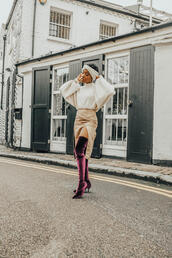 locks and trinkets,blogger,sweater,skirt,shoes,jewels,boots,thigh high boots,velvet boots,slit skirt,fall outfits