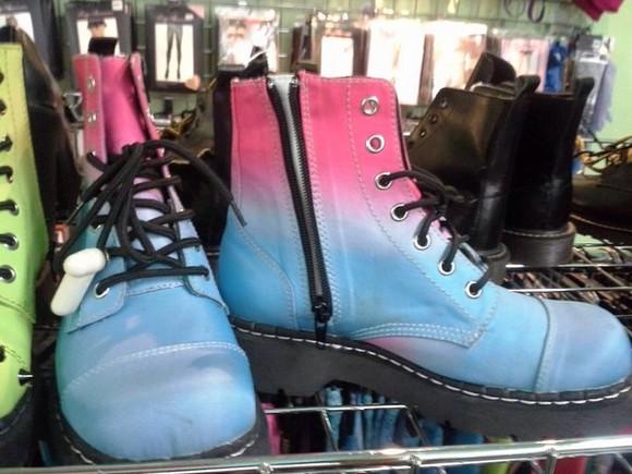 zipper combat boot grunge punk
