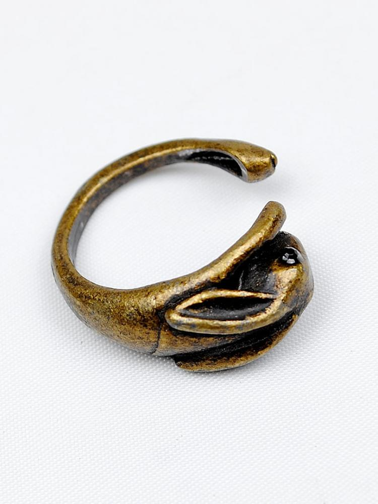Gorgeous Alloy Plated Rabbit Shape Fashion Ring Bronze | Choies