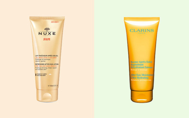 make-up beautiful cosmetics Nuxe clarins bathroom body care face care sun summer