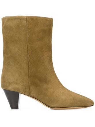 boots ankle boots leather suede green shoes