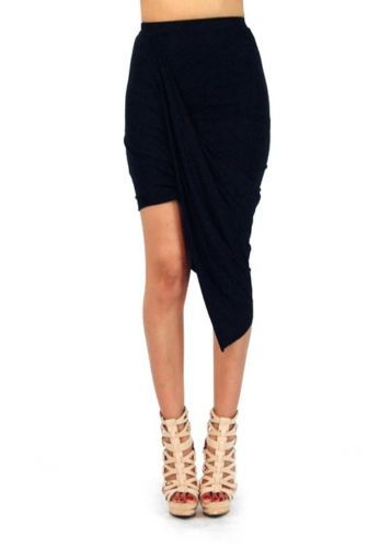Wrap around skirt black · poppys boutique · online store powered by storenvy