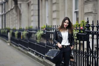 shiny sil blogger shirt shoes sweater jacket pants top bag