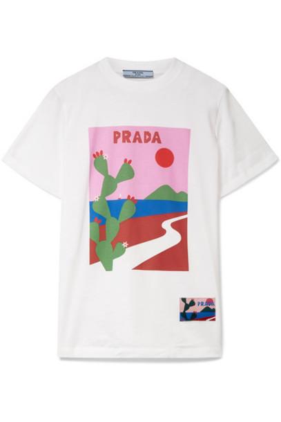 Prada t-shirt shirt t-shirt white cotton top