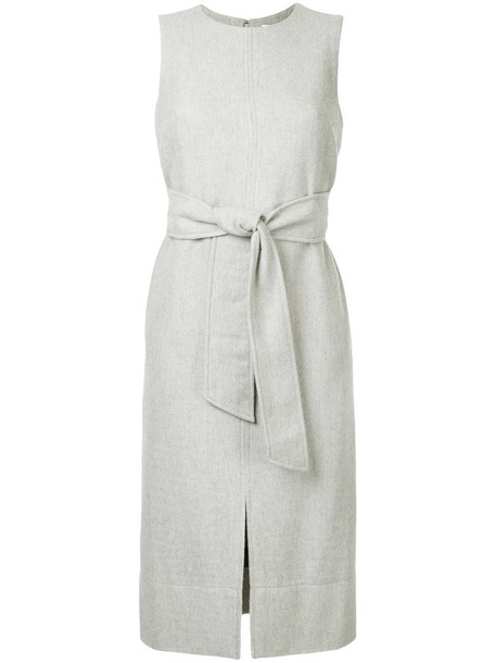 Estnation dress shift dress sleeveless women wool grey