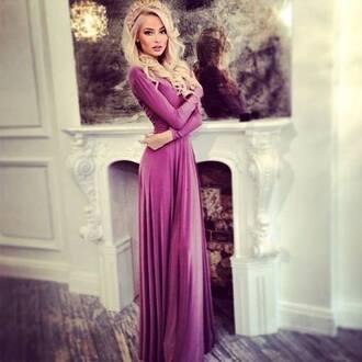 dress maxi dress purple dress alena shishkova