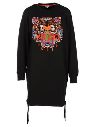 dress jersey dress embroidered tiger black
