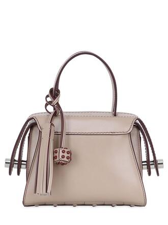 mini bag leather beige