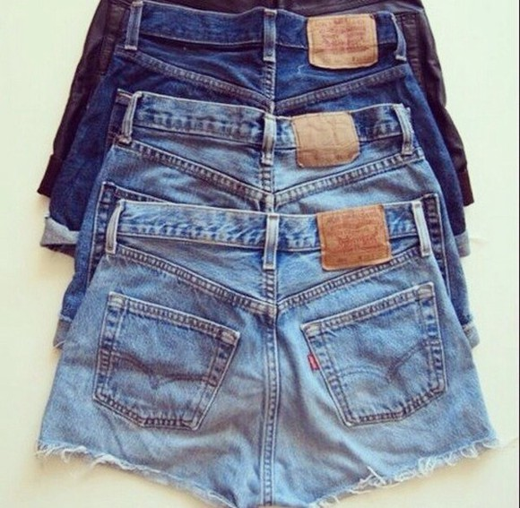 jeans levi's shorts levi's shorts blue light blue denimleggings 501