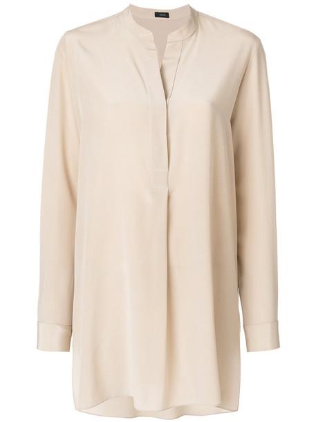 Joseph blouse women nude silk top