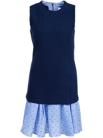 dress sleeveless dress sleeveless embroidered women cotton blue