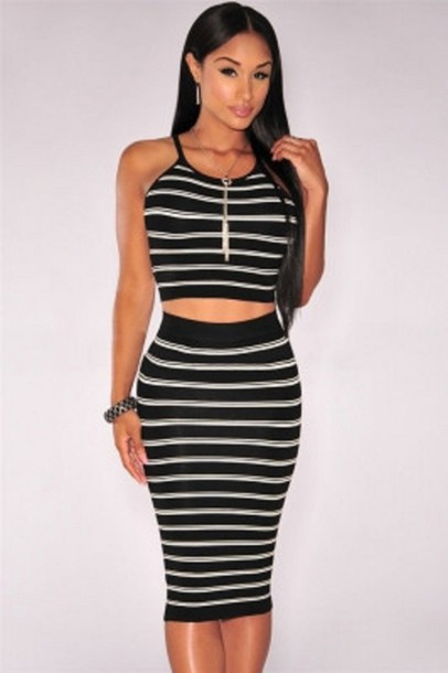 b9f2bc7807 skirt, two-piece, knit midi two piece, skirt sets, party, party ...