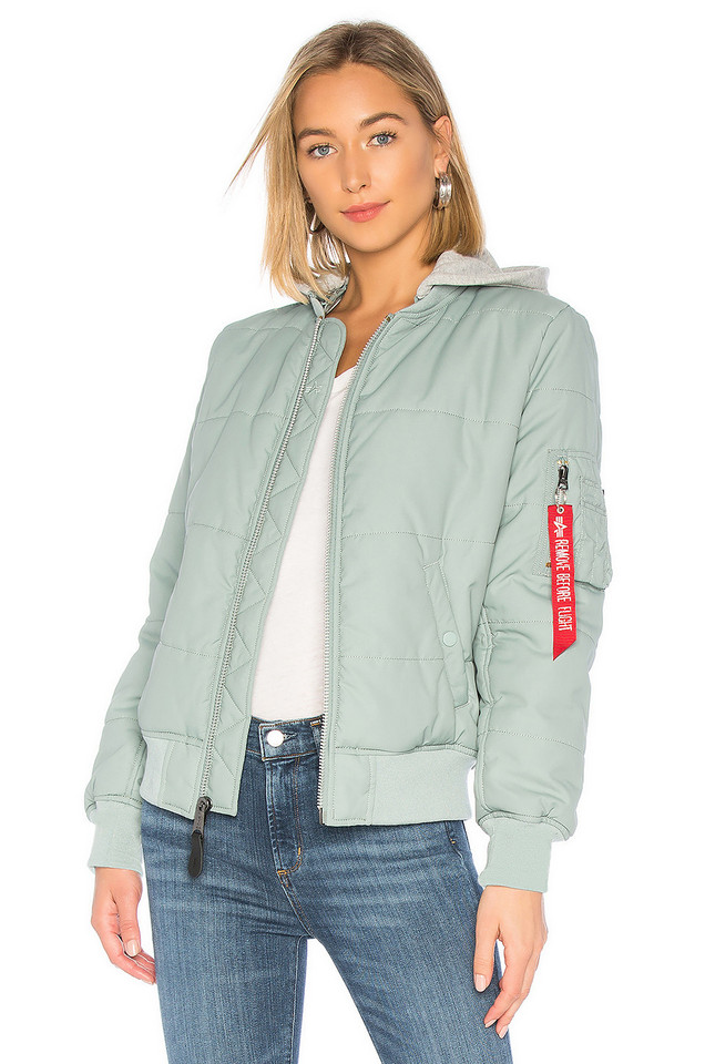 ALPHA INDUSTRIES MA-1 Natus Quilted Flight Jacket in blue