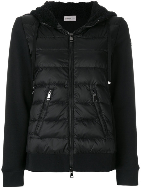 moncler jacket women cotton black