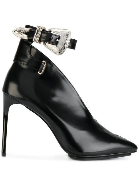 Toga Pulla women pumps leather black shoes