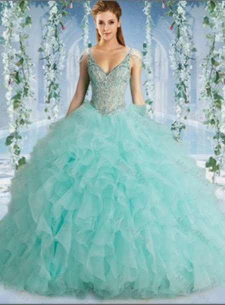 dress blue Quinceanera Dresses