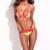 Neon Yellow & Red Triangle Lace Bikini Set | Emprada