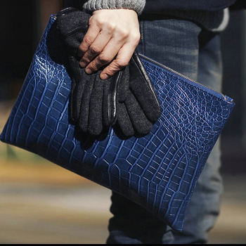 2013 fashion crocodile pattern day clutch filename package men's clutch vintage briefcase envelope bag-inBriefcases from Luggage & Bags on Aliexpress.com