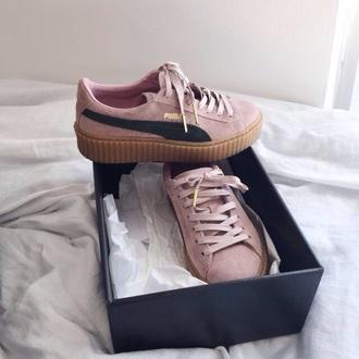 shoes puma pink black white nike clothes rihanna fashion