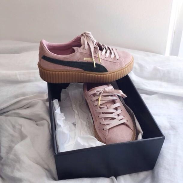 shoes, puma, pink, black, white, nike