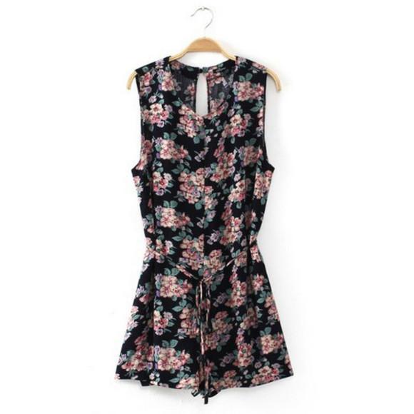 jumpsuit floral jumpsuit romper floral cute dress