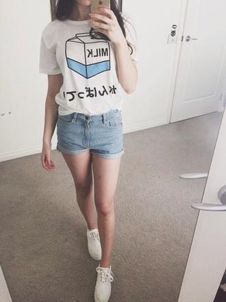 t-shirt shirt tee japan japanese milk kanji