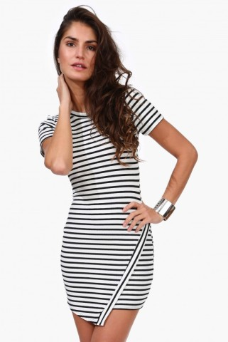 Asymmetric Striped Dress | Shop for Asymmetric Striped Dress Online | Keep.com