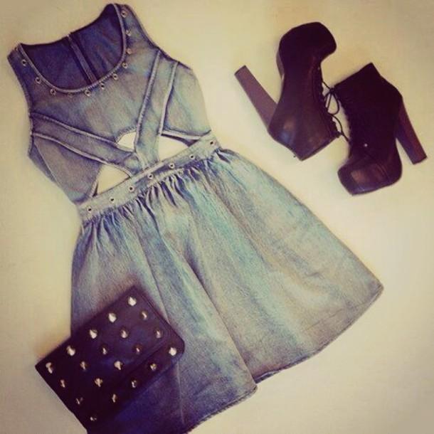 Dress: style, fashion, cut-out dress, cute, weheartit ...
