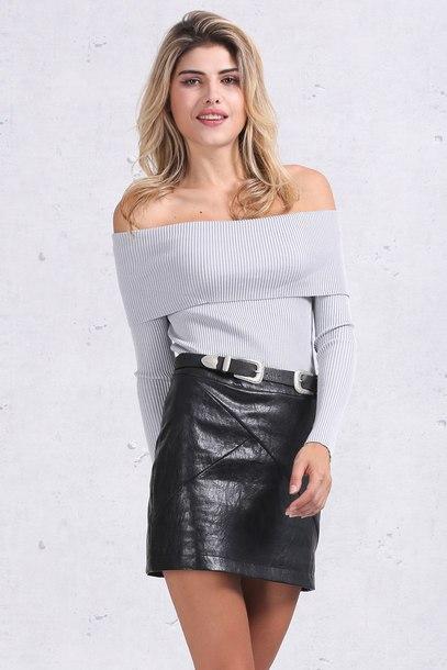 blouse jumper skirt black skirt mini skirt black mini skirt leather leather skirt leather mini skirt