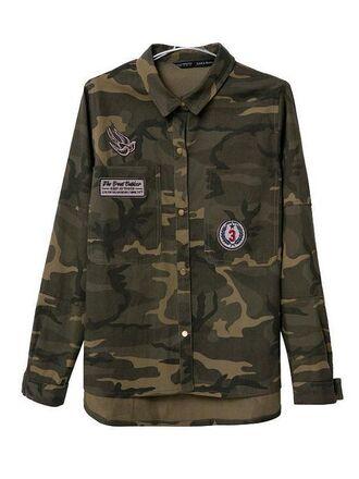 army green autumn fashion long sleeves
