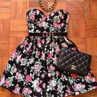 dress floral dress little black dress short